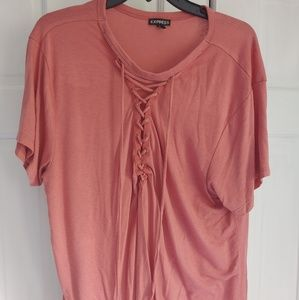 Express lace up front shirt